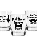 Groom Decal, Best Man Decal, Groomsman Decal, Wedding Party Decal, Groomsman Gift, Bachelor Party Decal, Wedding Glass Decal, DIY Wedding