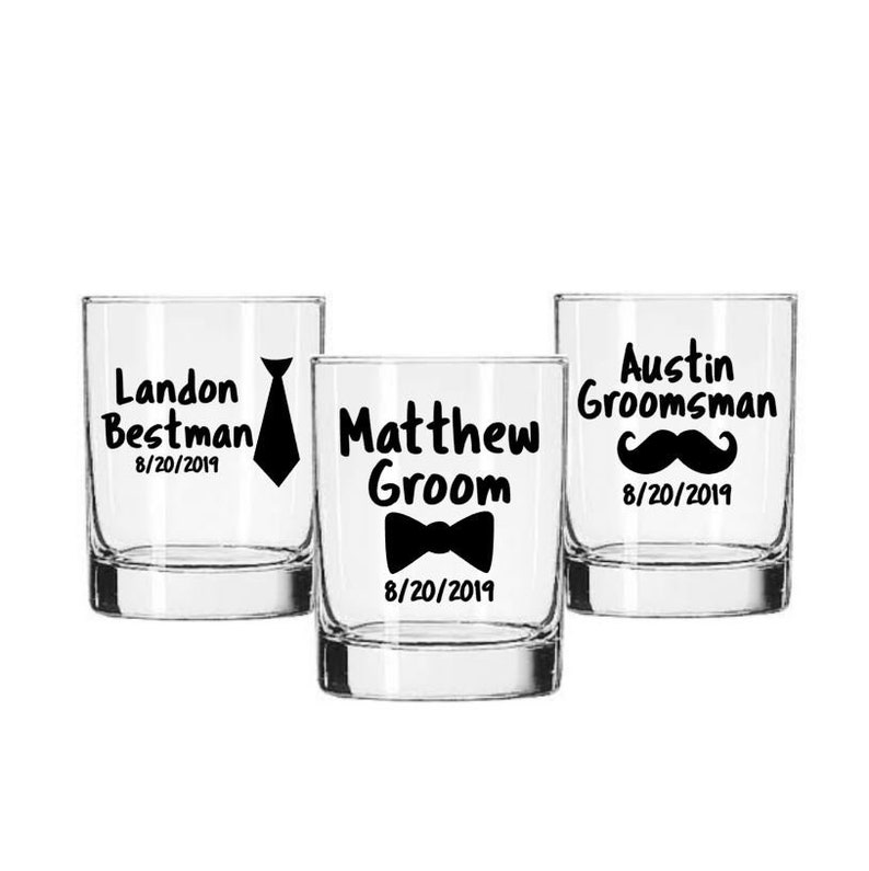 Groom Decal Best Man Decal Groomsman Decal Wedding Party image 0