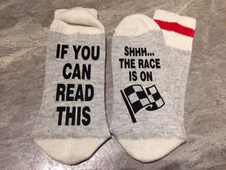 If You Can Read This ... Shhhh... The Race Is On Word Socks  image 0