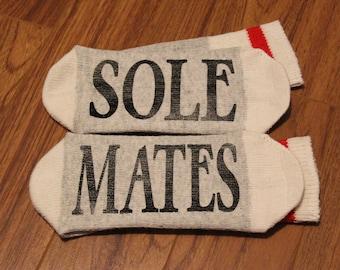 Sole ... Mates (Word Socks - Funny Socks - Novelty Socks)