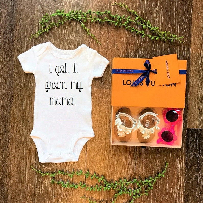 I GOT it from MY MAMA cute funny trendy baby bodysuit   top t shirt clothing apparel costume novelty celebrate newborn baby shower gift