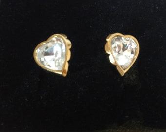 90's Avon Crystal True to the Heart Earrings