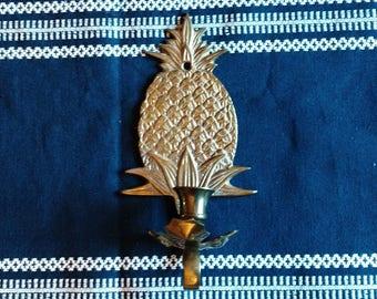 Brass Pineapple Sconce