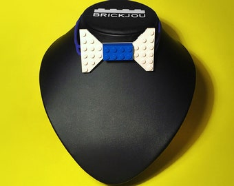 Bow tie with white & blue LEGO® bricks