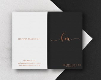 Business card template etsy bohemian business card template business cards boho card design beauty business card printable business card rose gold foil card card friedricerecipe Images