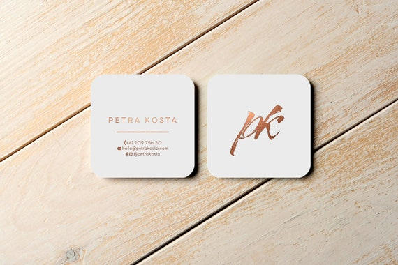 Printable Business Card Templates Round Square Business Card Templates For Photographers Bloggers Custom Copper Business Cards Moo Cards