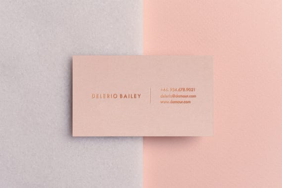 Printable Rose Gold Foil Business And Calling Cards Templates Business Card Templates