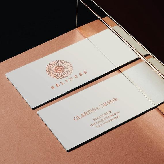 Rose Gold Folie Visitenkarten Vorlagen Visitenkarte Vorlagen Bereit Für Den Druck