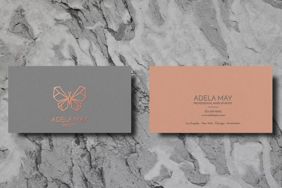 Business Calling Cards Rose Gold Folie Visitenkarten Moo Visitenkarte Vorlage Visitenkarte Design Vorgefertigte Karte Design