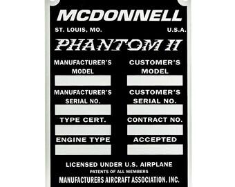 F-4 PHANTOM II McDonnell Douglas F-4E GRIECHISCHE Luftwaffe HAF Aufkleber