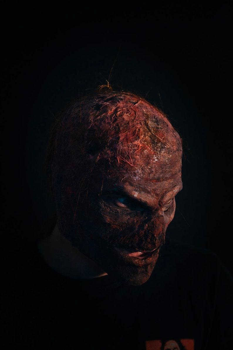 Burned face mask