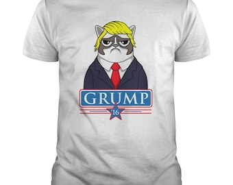 Grumpy Cat Shirt - Trump Grumpy Cat T shirt - Funny Grumpy Cat T shirt - Unisex - Small To 5XL - Cotton - Funny Trump Tshirt - Trump Gifts