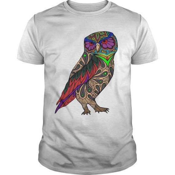 Buhos camisas la lechuza T camiseta camisa de aves buho   Etsy