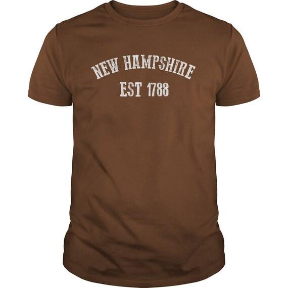 New Hampshire T Shirt - T-shirt Hampshire état neuf - Est New Hampshire Est - 1788 T-shirt - coton - 5 couleurs-petit 5XL - cadeaux de New Hampshire 28586a