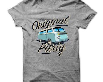 VW Kombi Shirt - VW Kombi Tshirt - The Original Party Bus - VW Gifts - Volkswagen Kombi Tshirts - Vw Automotive Tshirts - Volkswagen Fans
