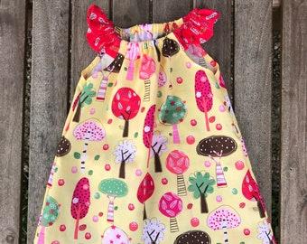 Girls woodland dress