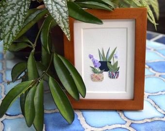 Two Orchids - Original Framed Art