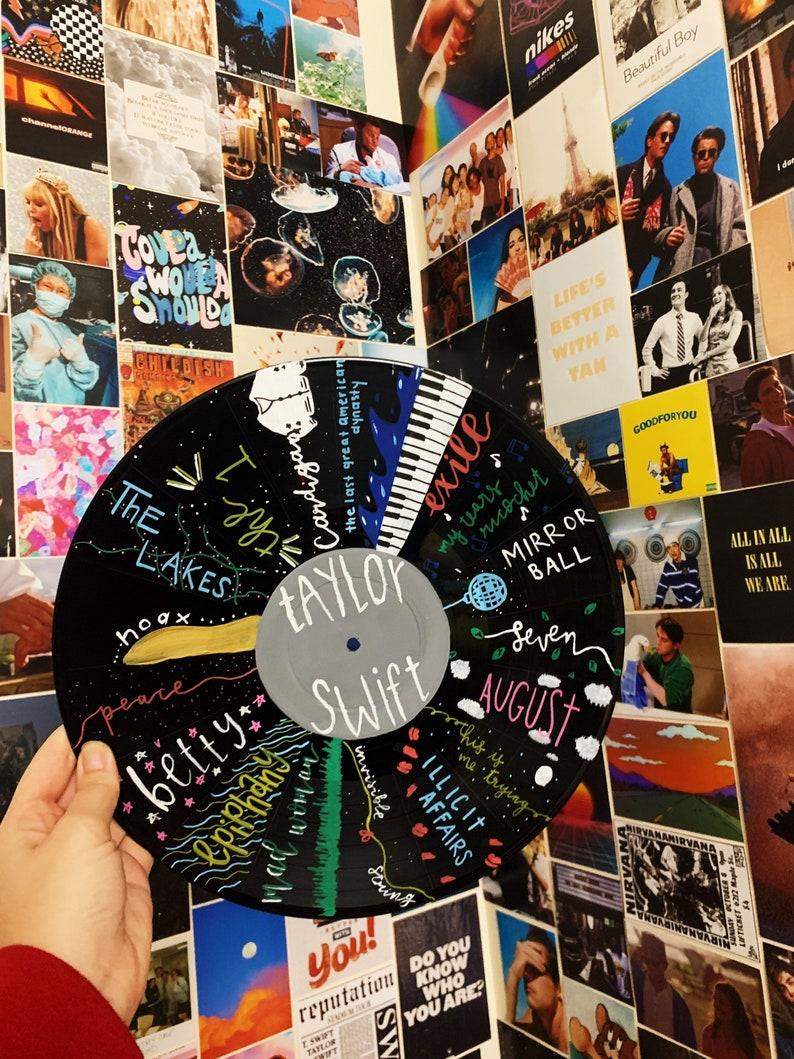 Taylor Swift \u201cFolklore\u201d Painted Vinyl Record
