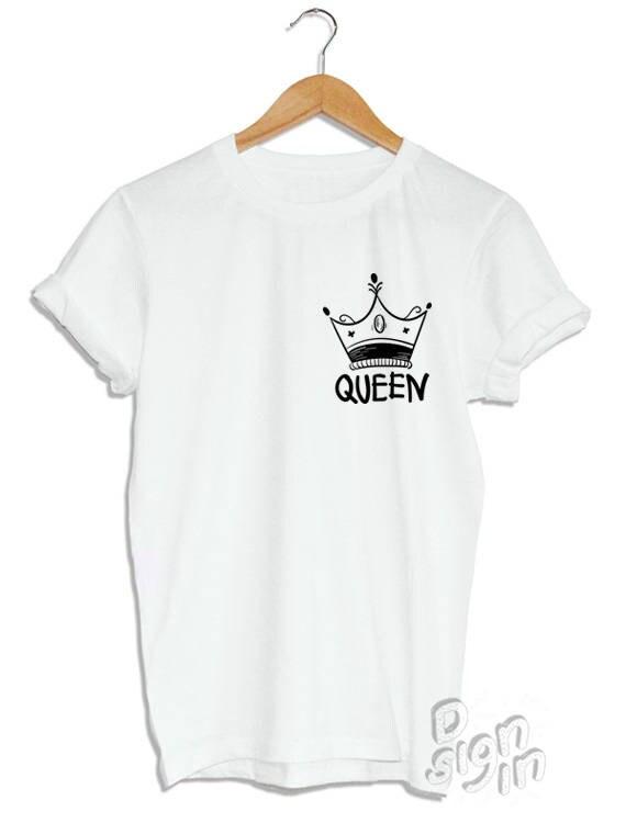 Reina Y Corona T Shirt Camiseta Princesa Mama Impresión Etsy
