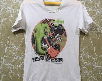 50a9b4ab29986e 90s Space jam cartoon character warner bros t shirt