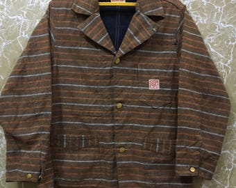 d3437cd5e0d Sugar Cane vintage denim engineer worker jacket shirt by toyo enterprise  made in usa L size