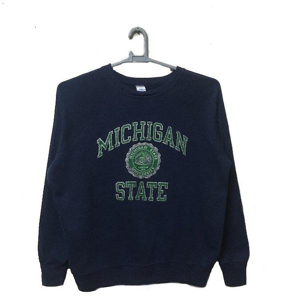 80s Champion Blue Bar Michigan State University Sw