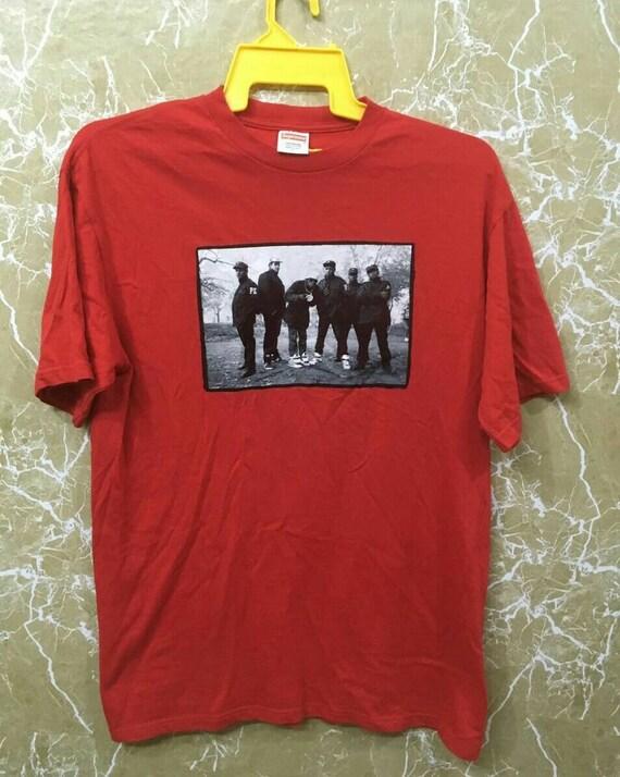 Supreme Public Enemy T-shirt L size red colour