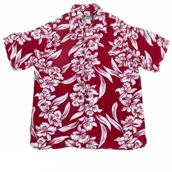 Vintage 80s Kamehameha 100% Rayon Hawaii shirt Kam