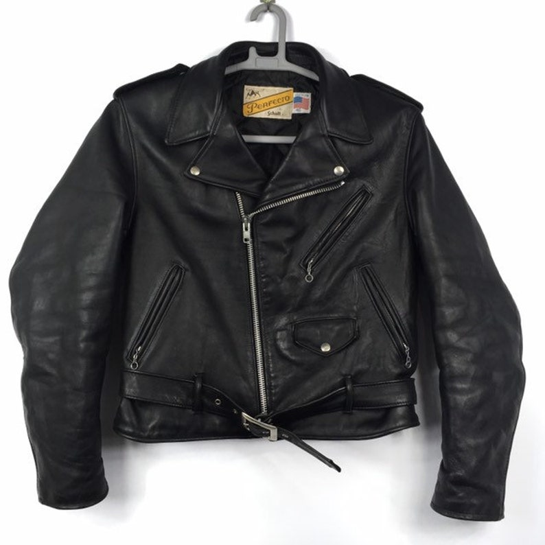 59970262cf8cb 60s/70s Schott 613 Perfecto One Star Steerhide Leather Punk Motocycle  Jacket Size 40 Made in USA