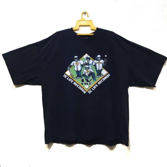 90s IV Life Records band hip hop Tshirt hip hop te