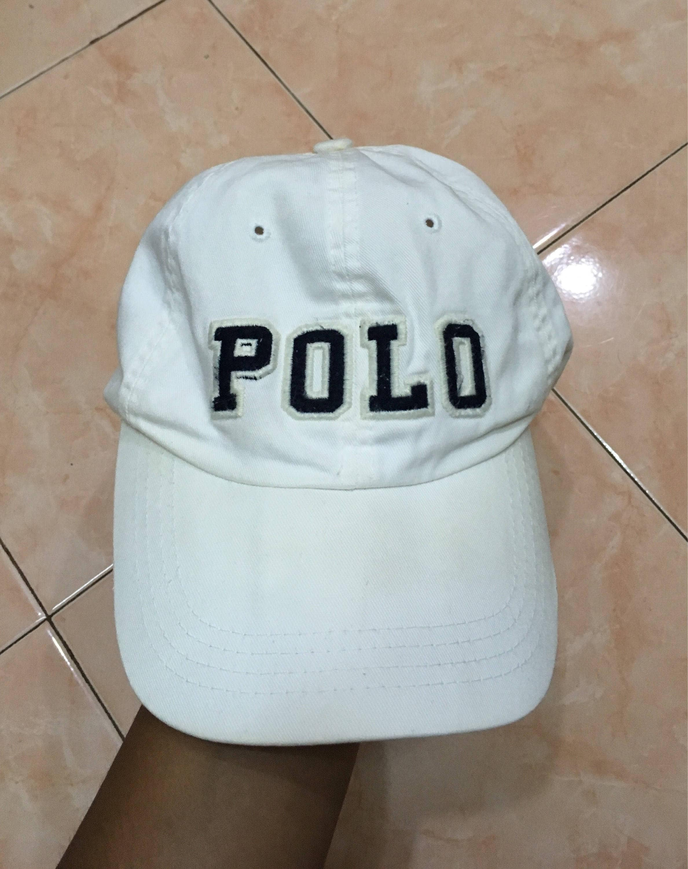 f000fc60716 Vintage 90s Polo by Ralph Lauren spell out big logo hat cap