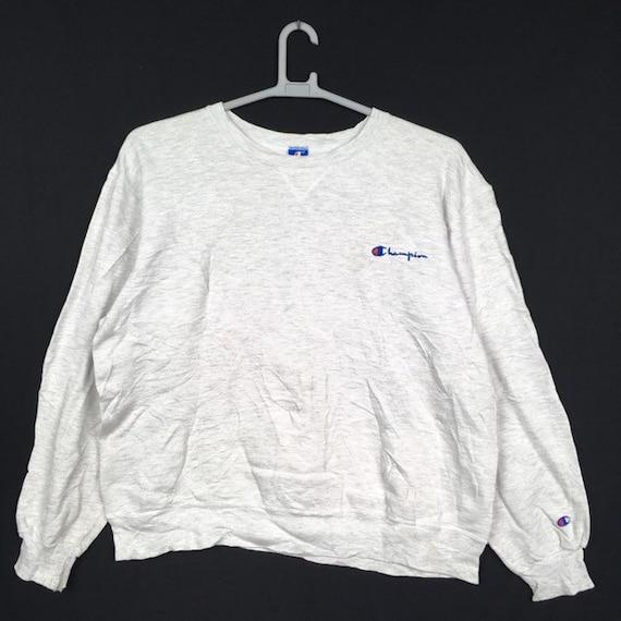 Vintage Champion Embroidery Sweatshirt XL size