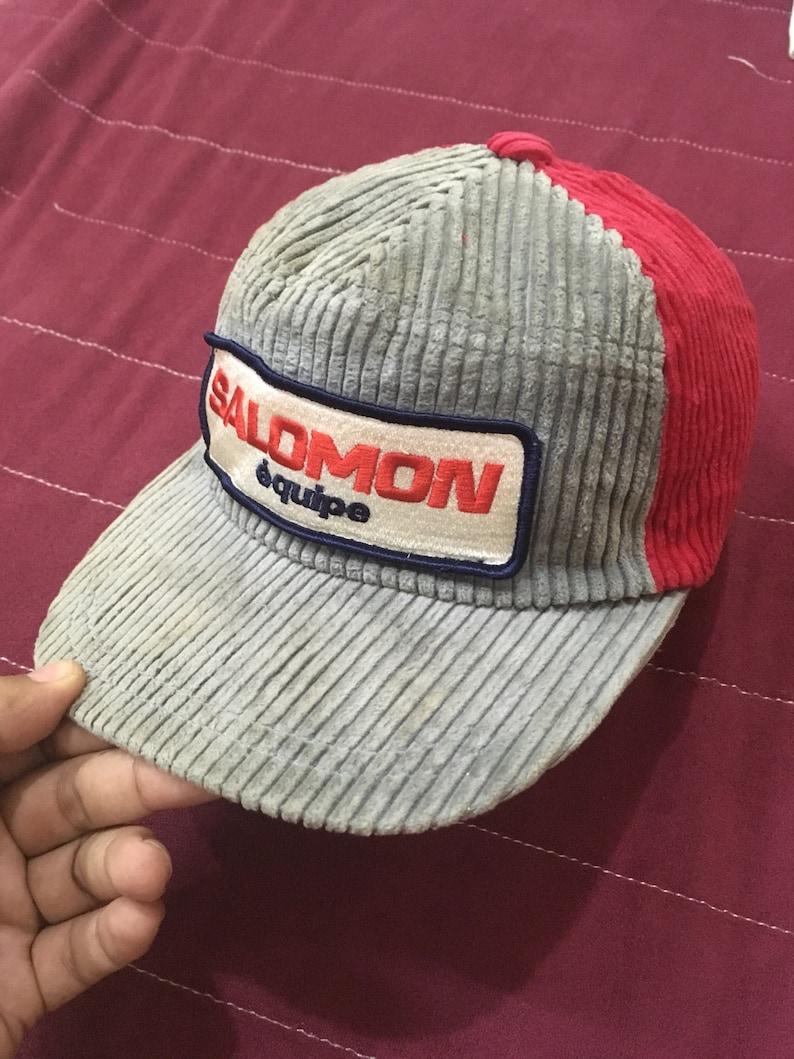 bab16e9fa Vintage 90s salomon trucker hat cap velvet free adult size