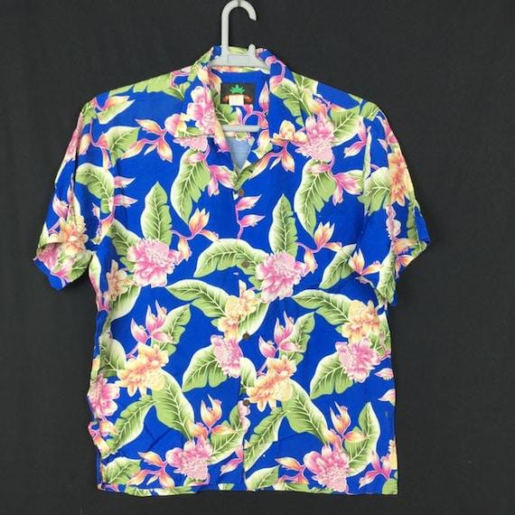 Vintage 80s Pineapple Juice Hawaii 100% Rayon Hawa