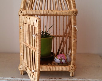 Lovely old wicker and rattan 60s cage