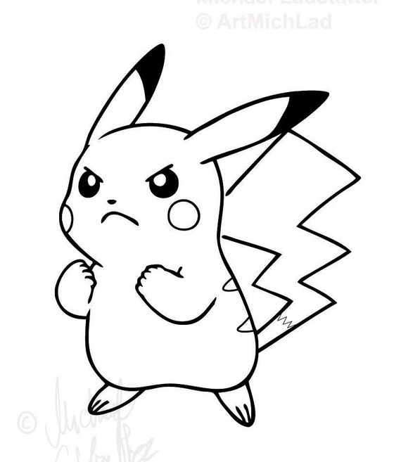 Items Similar To Coloring Page Pokemon Ausmalbild Pikachu On Etsy
