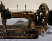 Frister Rossmann Antique Handcrank Sewing Machine, antique Frister sewing machine vintage Home Decor, Art Gallery
