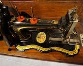 Bradbury Handcrank Sewing Machine,antique singer sewing machine vintage Home Decor, Art Gallery