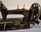 Alfred Holyland Leicester Handcrank Sewing Machine, antique singer sewing machine vintage Home Decor, Art Gallery