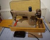 Vintage Singer 201K Aluminiun Electric Semi-Industrial Sewing Machine,antique singer sewing machine vintage Home Decor, Art Gallery