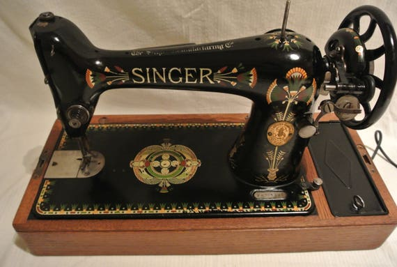 Singer 40K Lotus Decals Hand Crank Antique Sewing Machine Etsy Amazing Lotus Singer Sewing Machine