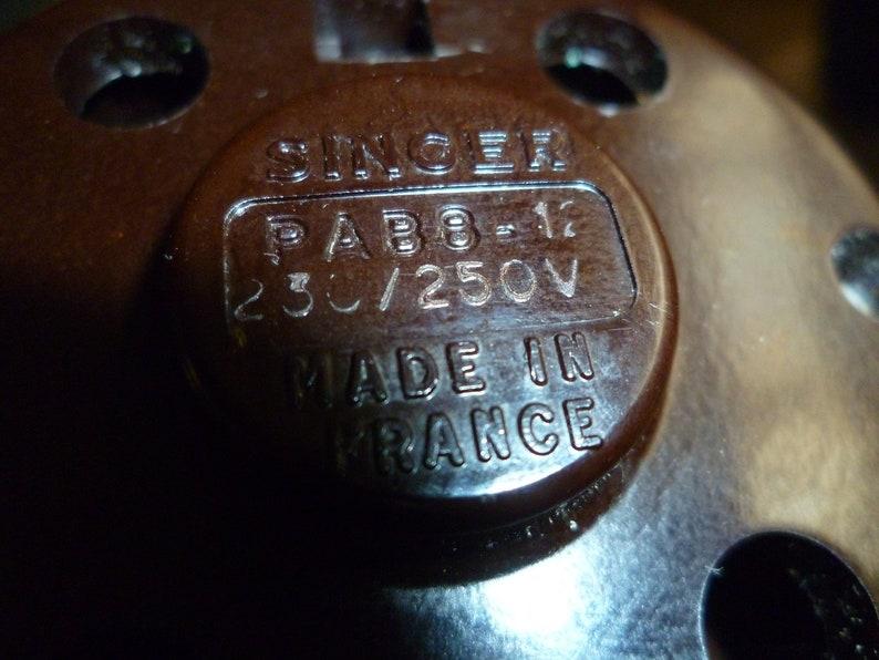 Vintage Singer Sewing Machine Motor Type PAB 8-12