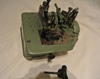 Green Wilcox & Gibbs Overlock Sewing Machine Model T370470