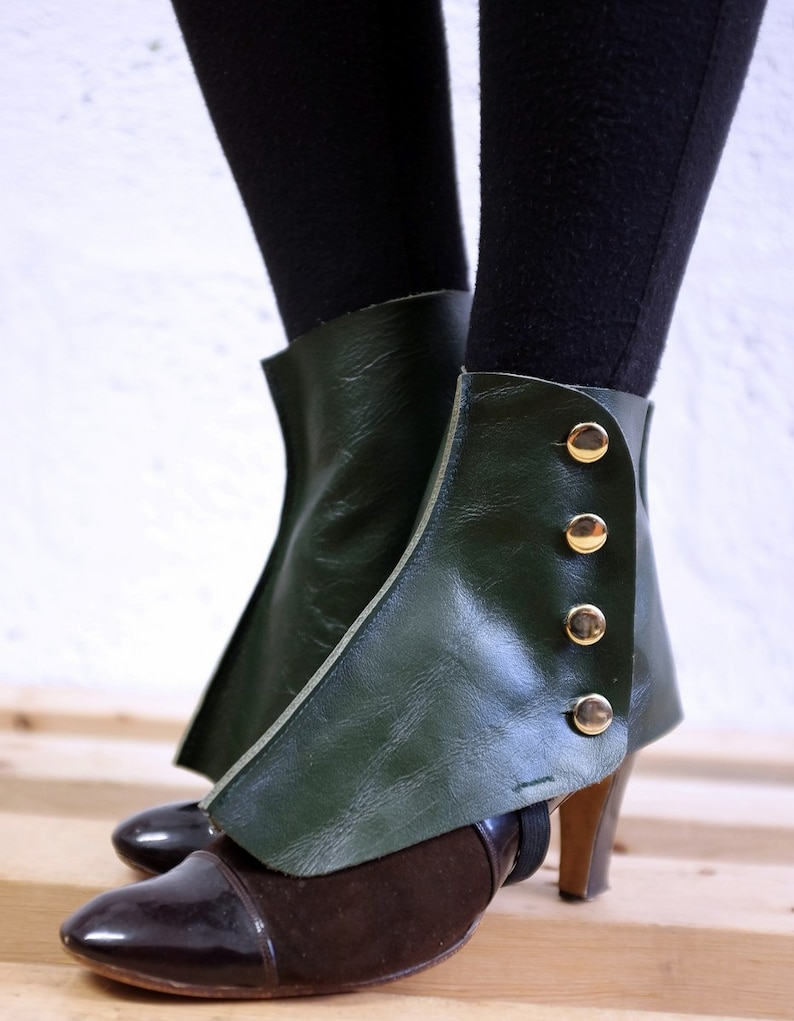 Leather Spats / Green