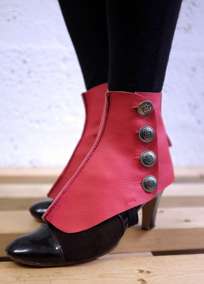Leather Spats / Red