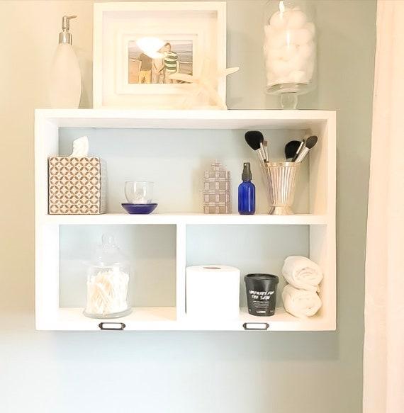 Badezimmer Schrank - Schlafzimmer Regal - Bad Regal mit Storage - über der  Toilette Storage - schwimmende Regale - Bad Wand Veranstalter
