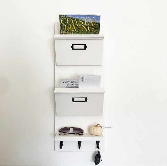 c7ae244e0aa2 Narrow Mail Organizer for Entryway, Entryway Organizer for mail, Hanging  Mail Organizer Wall, Mail Holder, Mail Sorter, Dog Leash Holder,
