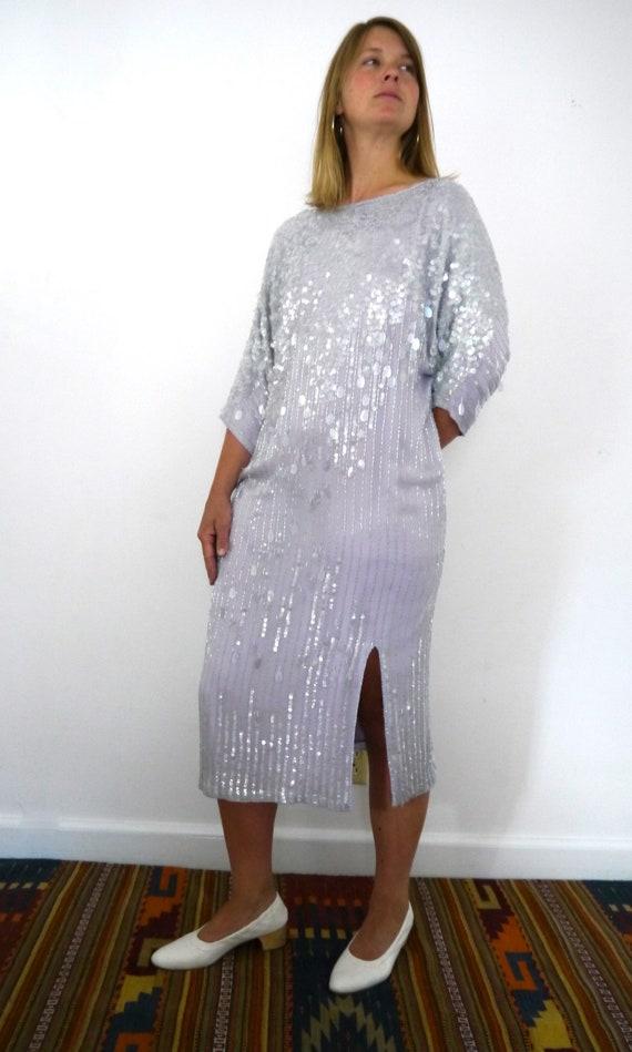 Lavender Sequin Dress // Sparkly Lavender Dress //