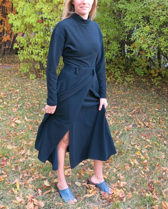 Navy Turtleneck Two Piece // Long Sleeve dress Two