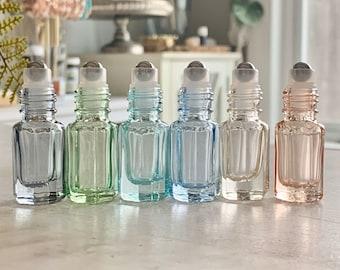 Pastel Roller Bottles ~ Glass Roller Bottles ~ Essential Oil Bottles ~ DIY Perfume ~ Holistic ~ 5 ml bottles ~ Travel ~ Gift ~ Boho